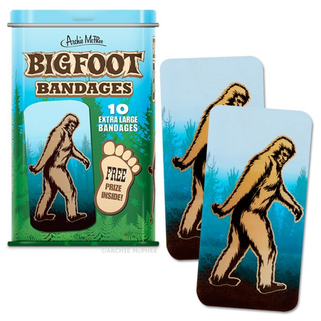 Bigfoot Bandages Sasquatch Yeti Band-Aids Adhesive Funny Big Foot Gift