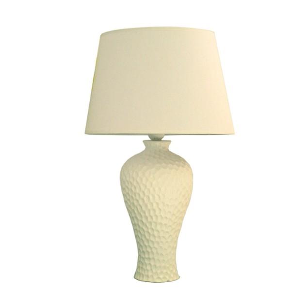 Simple Designs Texturized Curvy Ceramic Table Lamp