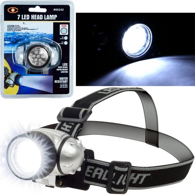 Stalwart 7 LED Headlamp with Adjustable Strap