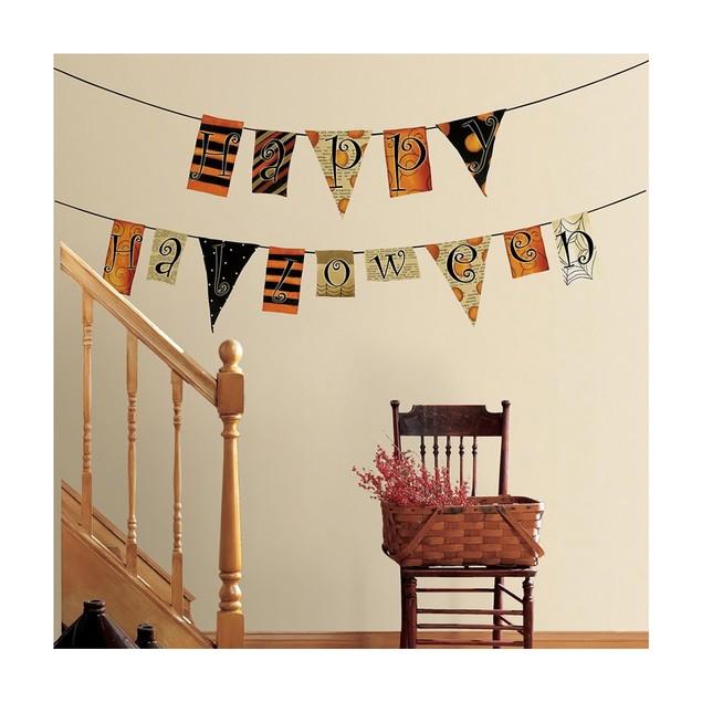 Roommates Baby Room Wall Decorative Happy Halloween Pennants Wall Decals