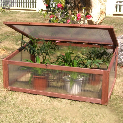 Costway Garden Portable Wooden Green House Cold Frame Raised Plants Bed Pro