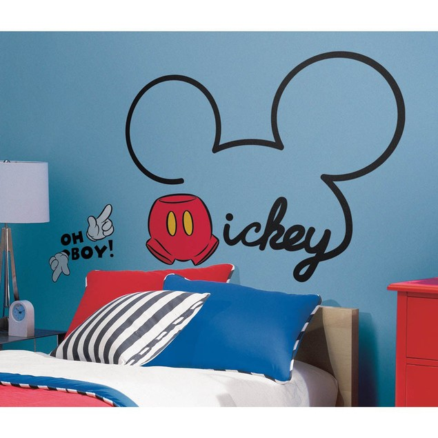 Roommates Nursery Baby Room Wall Decor All About Mickey Giant Wall Decals