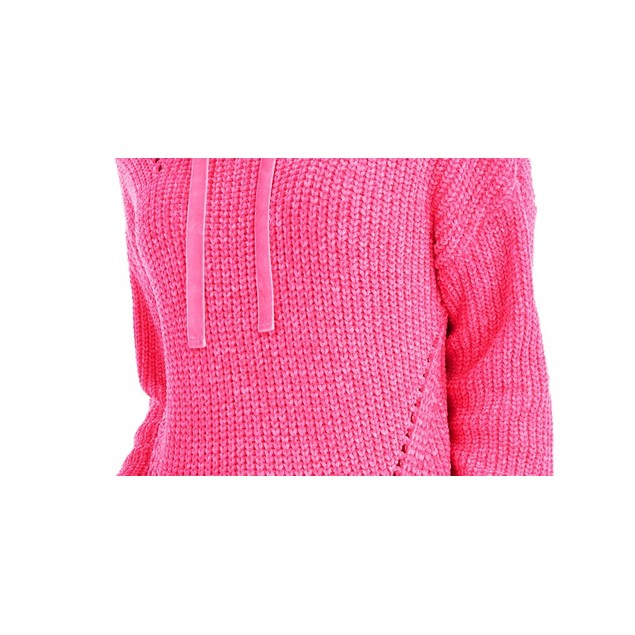 American Rag Juniors' Chenille Hoodie Bright Pink Size Medium