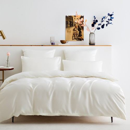 Bedding Silk Satin Duvet Cover Set 1 Silk Quilt Cover & 2 Pillowcases