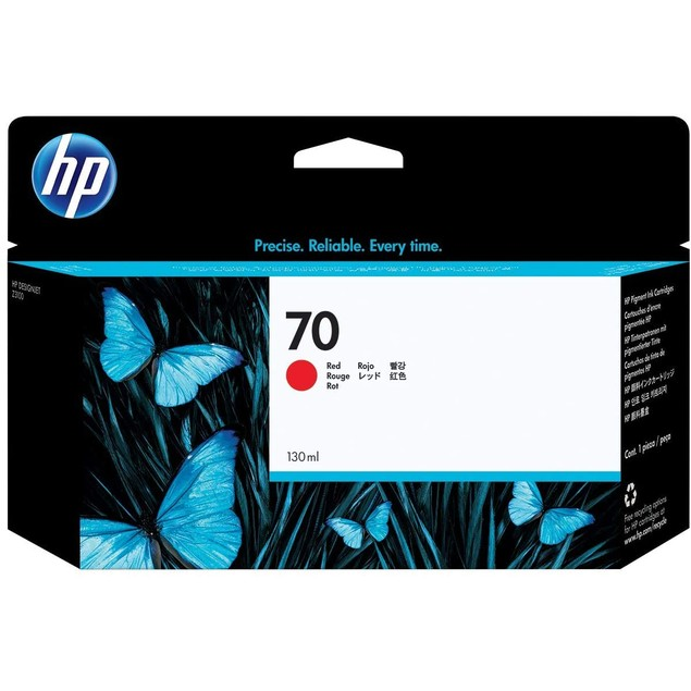 HP 70 Red 130-ml Genuine Ink Cartridge (C9456A) for DesignJet Z3100 Large Format Printers