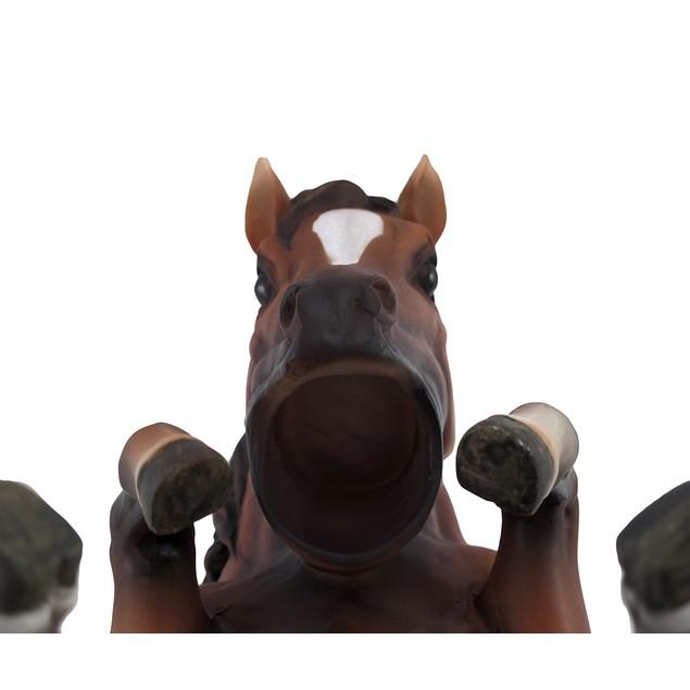 Brown Horse Single Wine Bottle Holder Kitchen Tabletop Wine Racks