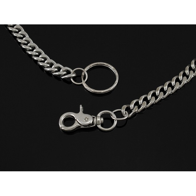 Double Strand Polished Chrome Link Wallet Chain 25 Mens Wallet Chains