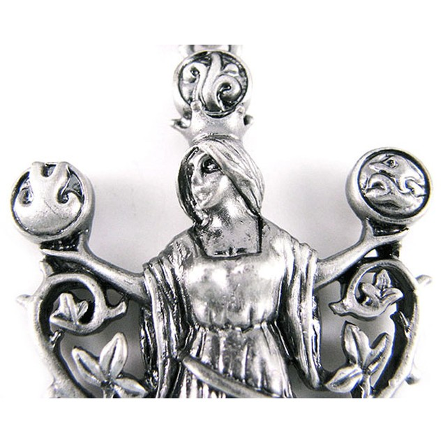 `Elemental Gaia` Solid Pewter Pendant Mother Mens Pendant Necklaces