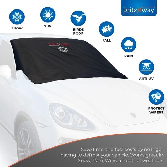Heavy Duty Bundle: Windshield & Wiper Ice Protector w/ FREE Mirror Covers