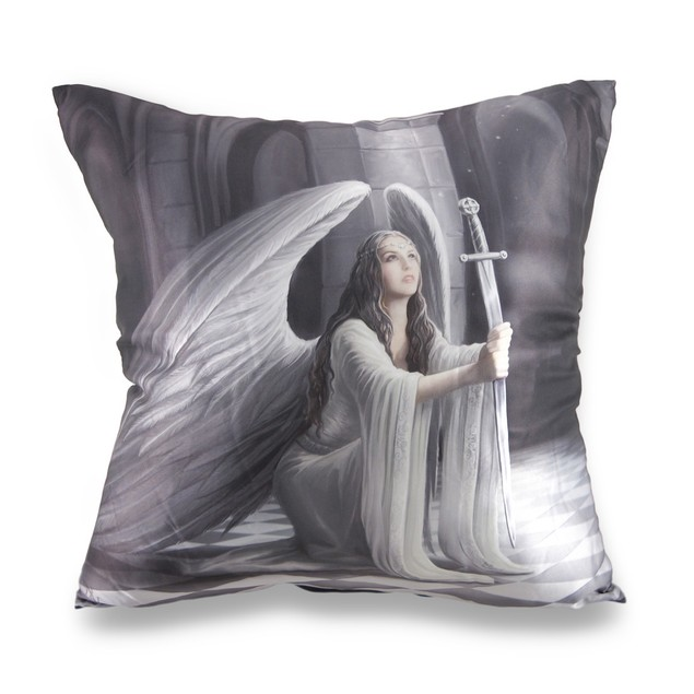 Anne Stokes The Blessing Gothic Angel Satin Throw Pillows
