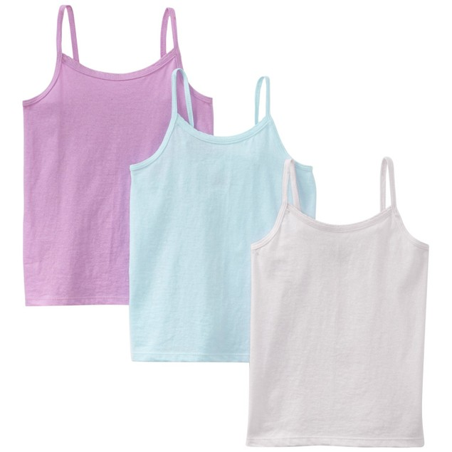 3 Pack: Hanes Toddler Girls TAGLESS Cotton Camisole