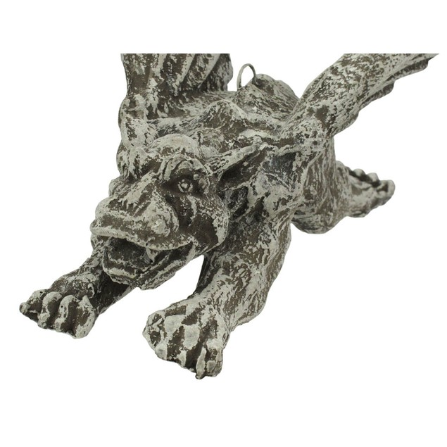 9 In. Flying Concrete Gargoyle Outdoor Hanging Statues
