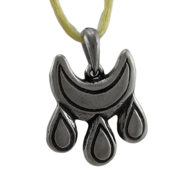 Blessings Of The Moon Goddess Pewter Pendant W/ Mens Pendant Necklaces