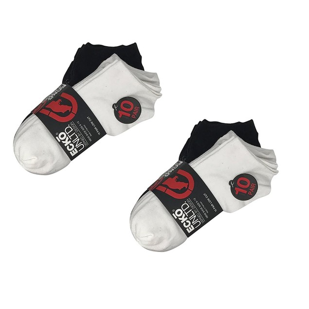 20-Pack Ecko Unlimited Men's Low-Cut Socks