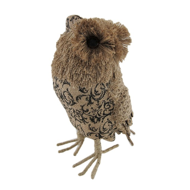 Whimsical Jute Owl Decorative Statue Statues