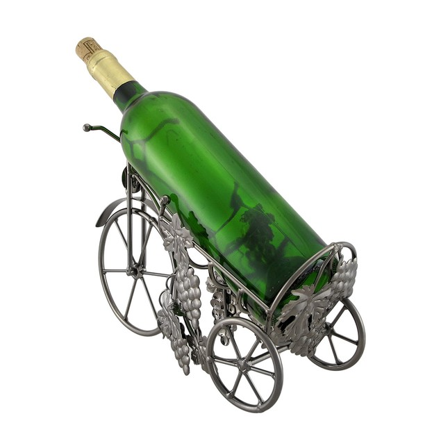Antique Tricycle Design Wine Display Recycled Tabletop Wine Racks