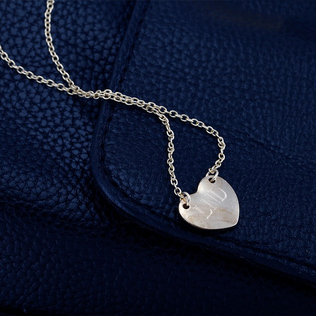 Personalized Heart Shaped Necklace - 2 Colors