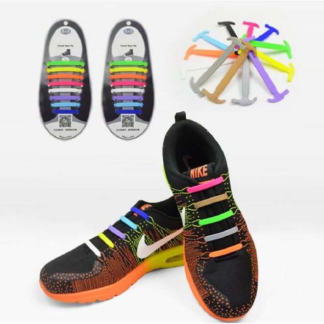 16 Piece Set Silicone Shoelace
