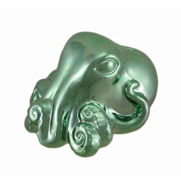 Metallic Green Octopus Coin Bank Toy Banks