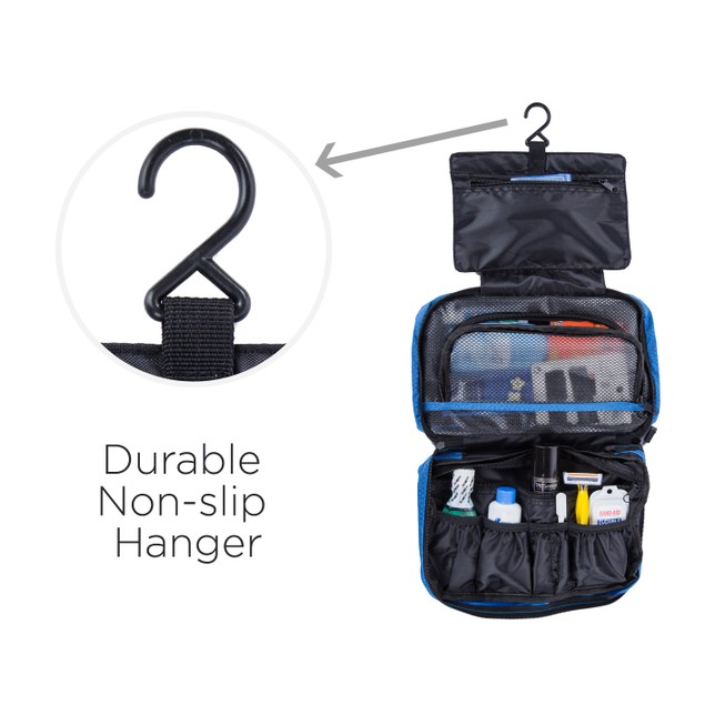 Suvelle Waterproof Nylon Hanging Toiletry Bag