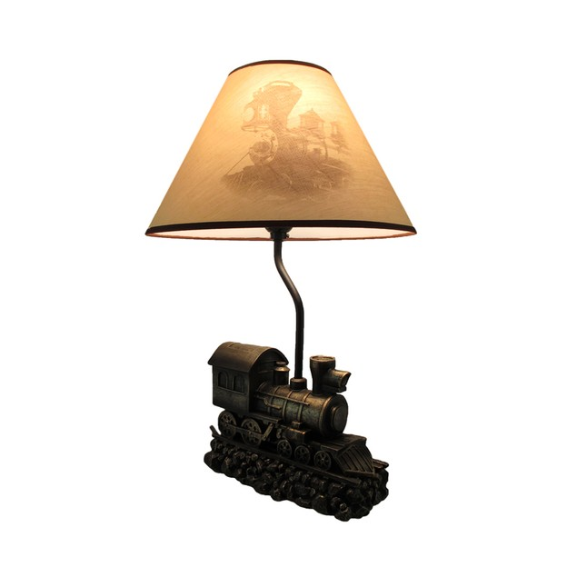 Light In The Tunnel Steam Train Engine Table Lamp Table Lamps