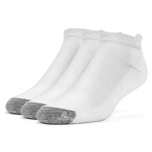Galiva Men's Cotton Extra Soft No Show Cushion Socks - 3 Pairs