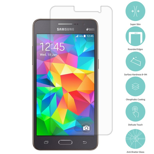 Samsung Galaxy Grand Prime LTE G530 Tempered Glass Screen Protector Clear