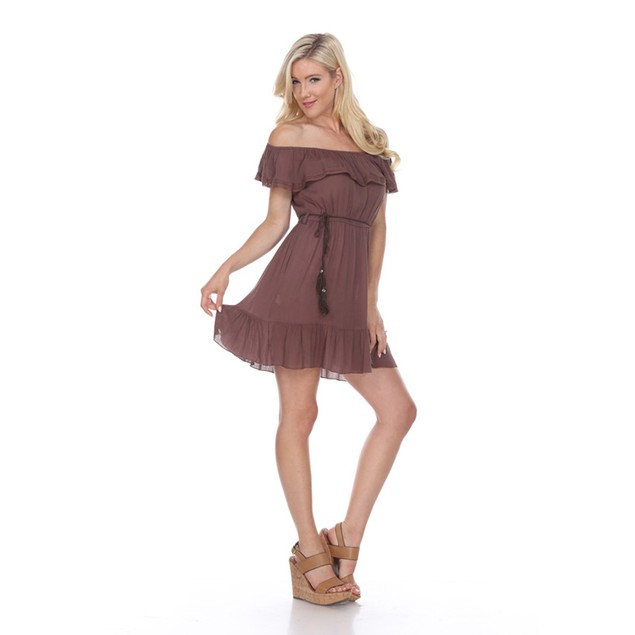 Smocked Off Shoulder Anita Dress - 4 Colors