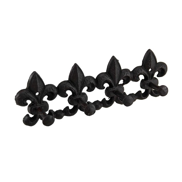 Cast Iron Fleur De Lis Decorative Wall Hook Decorative Wall Hooks