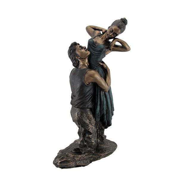 Bronze Finish Neoclassical Ballet Dancers Statue Statues