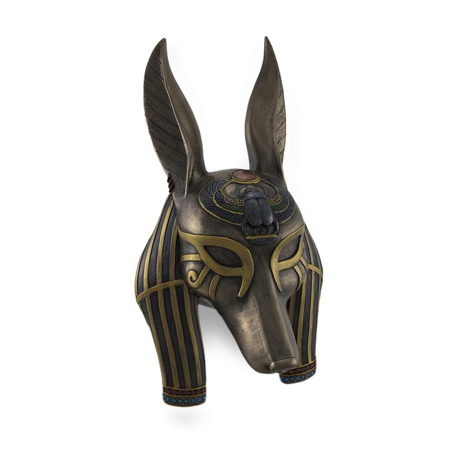 Mask Of Anubis The Jackal God Sculptured Wall Wall Sculptures