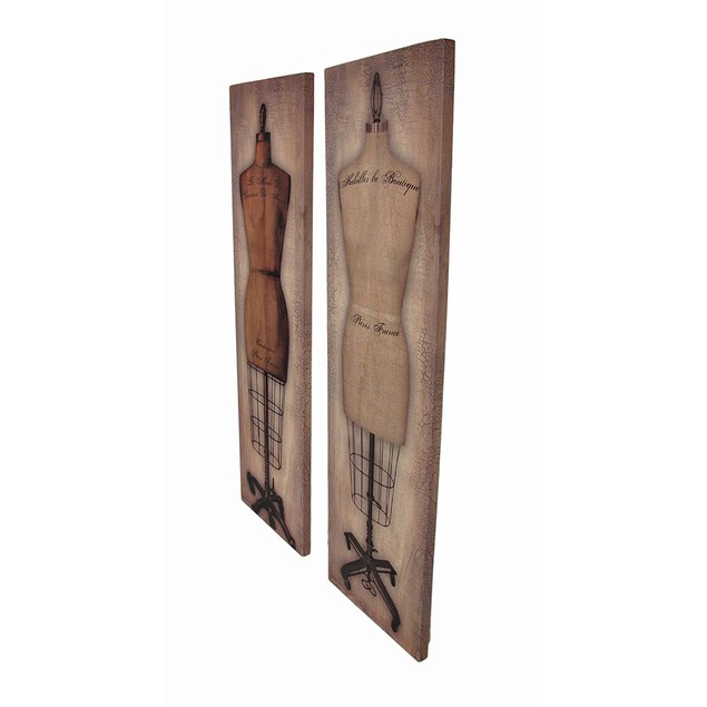 Set Of 2 Vintage Dress Forms Printed Canvas Wall Prints