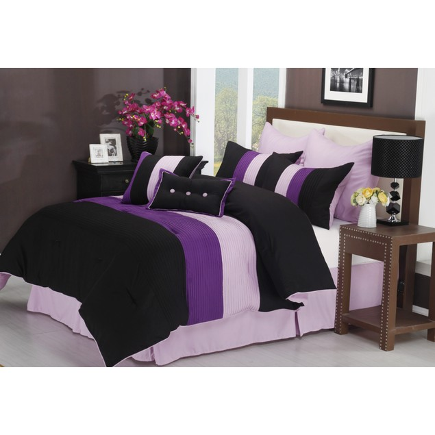 Florence 8-Piece Comforter Set With Shams, Bed Skirt and ...