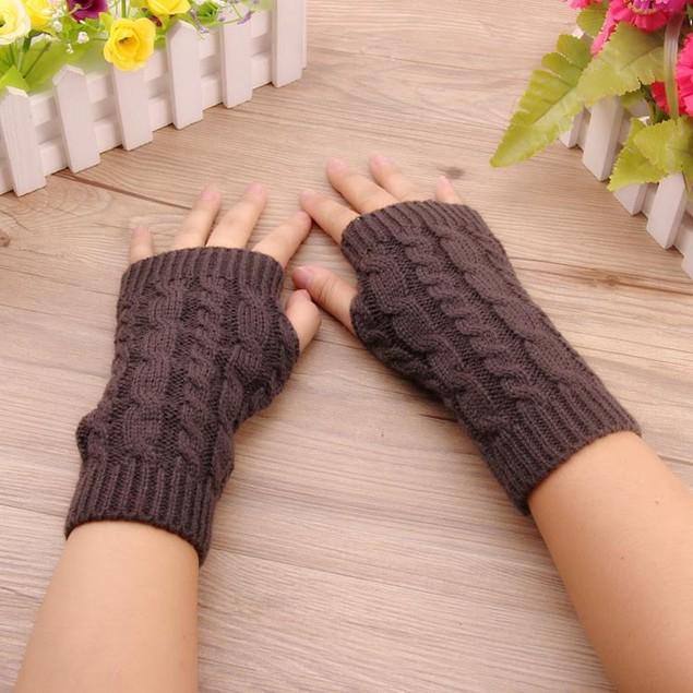 2-Pack- Long Fingerless Knit Gloves