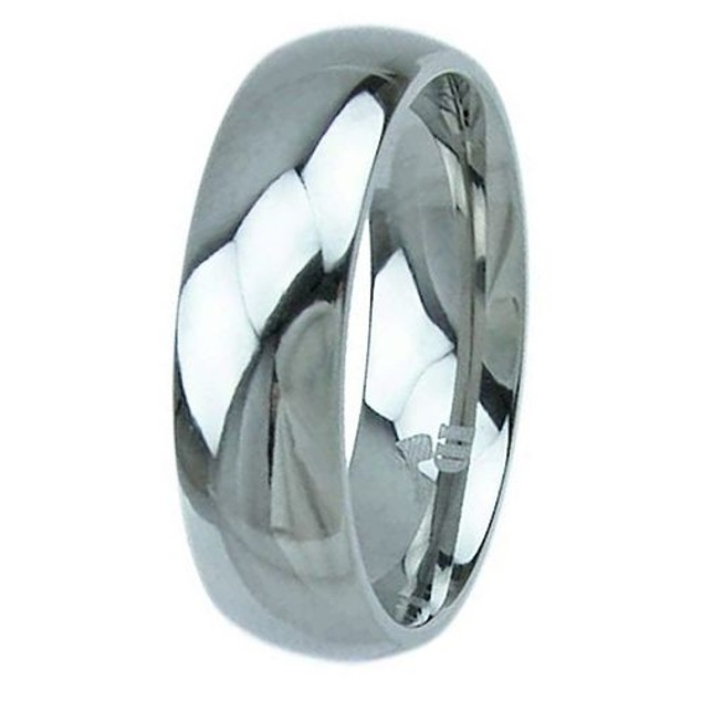 His Hers Vintage Style Wedding Ring Set Sterling Silver & Titanium