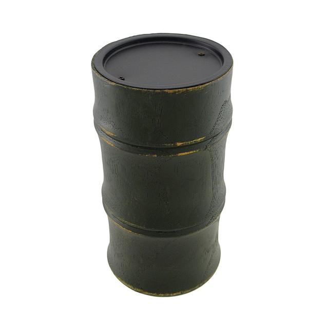 Dark Green Wooden Bamboo Pillar Candle Holder Candleholders