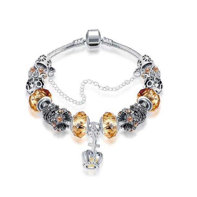Royal Yellow Citrine Crown Jewel Designer Inspired Bracelet