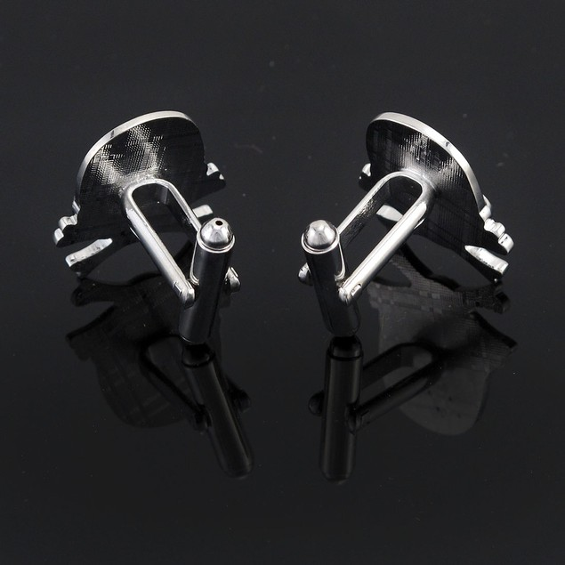Stainless Steel Skull & Crossbones Cuff Links Mens Cuff Links