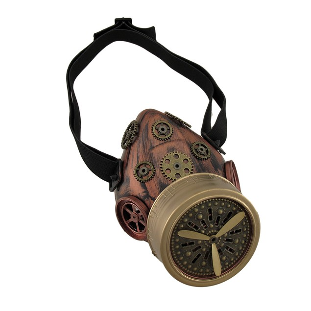 Steampunk Gears And Propeller Antique Copper/Brass Mens Costume Masks