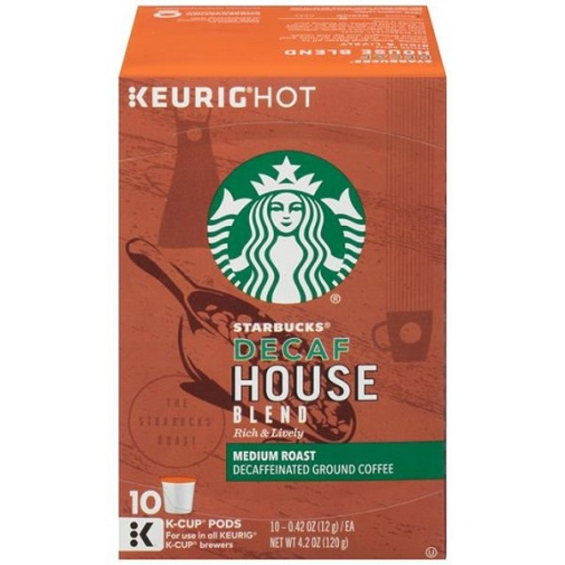 Starbucks Decaf House Blend Medium Keurig K-Cups