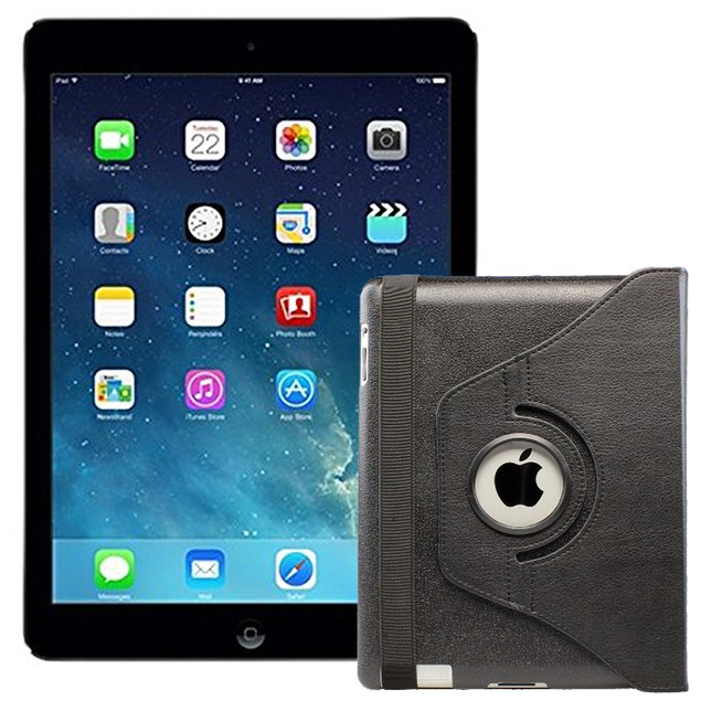 Apple iPad Air MD785LL/A (16GB WiFi, Black) Grade A + FREE iPad Case