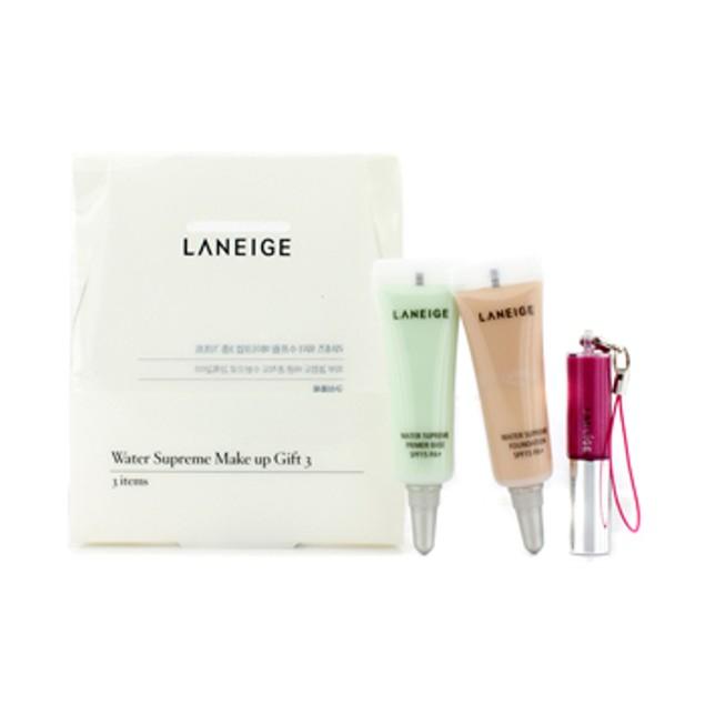 Laneige Water Supreme Make Up Gift 3: 1x Mini Lip Gloss, 1x Mini Foundation