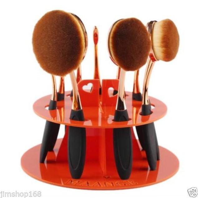 10-Hole Makeup Brush Holder
