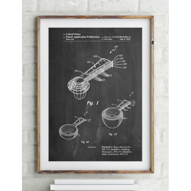 Stacking Measuring Cups Patent Poster