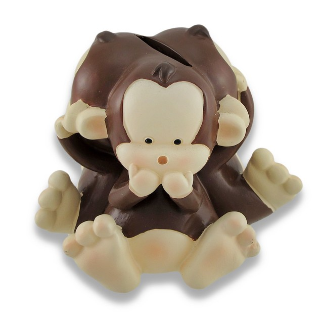 Baby Monkey See, Speak, Hear No Evil Coin Bank 4.5 Toy Banks