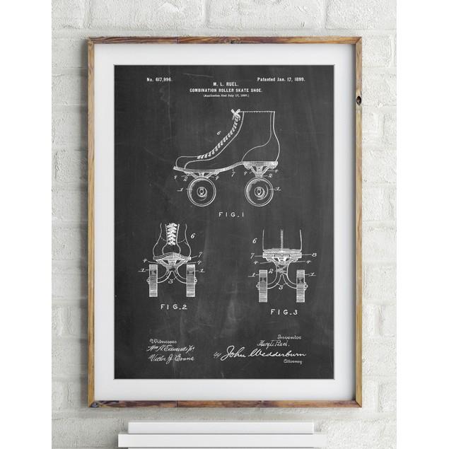 Roller Skate 1899 Patent Poster
