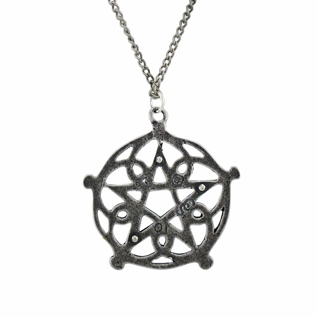 Pentagram Of Brisingamen Pendant W/ Link Necklace Womens Pendant Necklaces