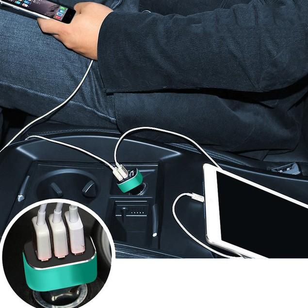 3-Port USB Car Charger