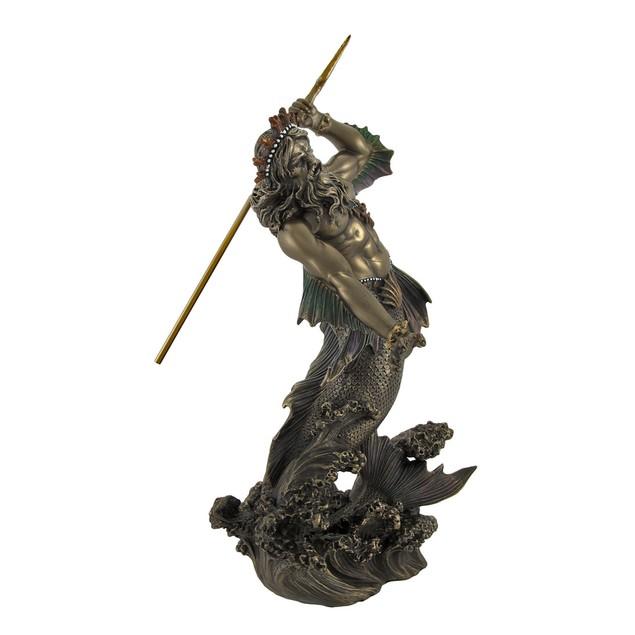 Poseidon God Of The Sea Bronzed Statue Statues