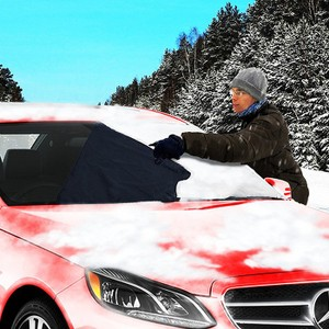 Winter Zone Tech Bundle: Snow Windshield Cover + Heated Car Seat Cushion
